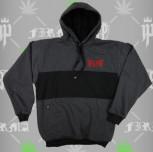 Bluza Kangur gryfy grafit(czarny/czerwony)