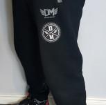 Spodnie dresowe DM czarny/melange