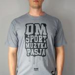 """T-shirt DM """"Graf"""" szary"""