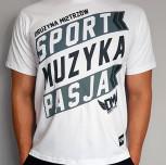 """T-shirt DM """"Motto"""" biały"""
