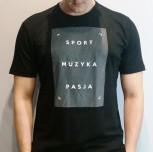 "T-shirt DM ""Motto2"" czarny"