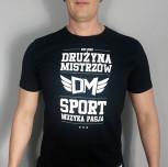 "T-shirt DM ""Sport"" czarny"