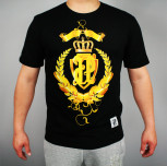 "T-shirt ""Gold"" czarny(FIT)"